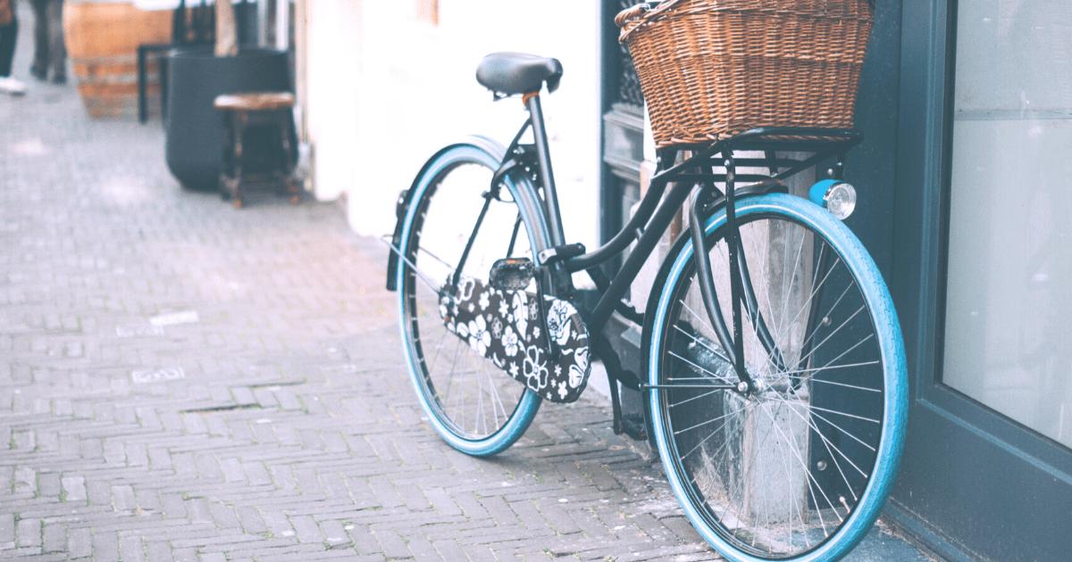かわいい自転車のカゴ